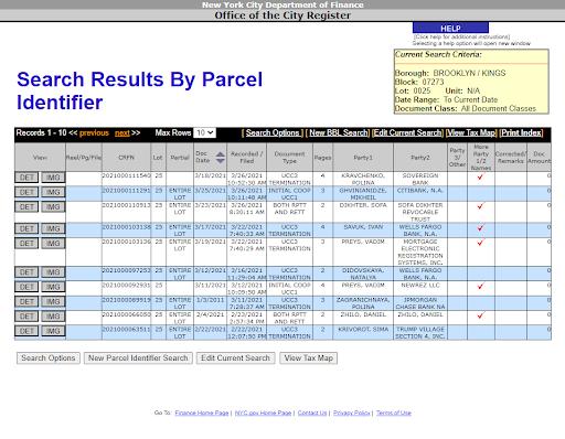 ACRIS NYC property records